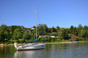 port widok na Chrewt od strony Soliny. Solinadomek.pl Solina domek wynajem